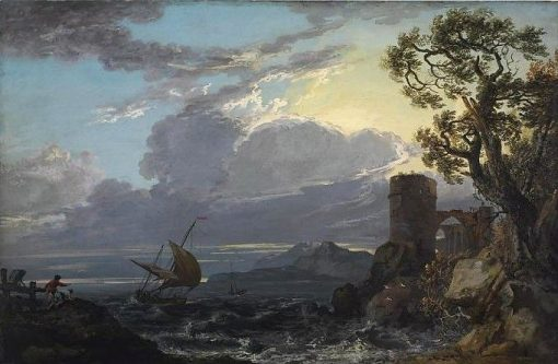 Stormy Sea with Castle Ruin and Figures | Paul Sandby