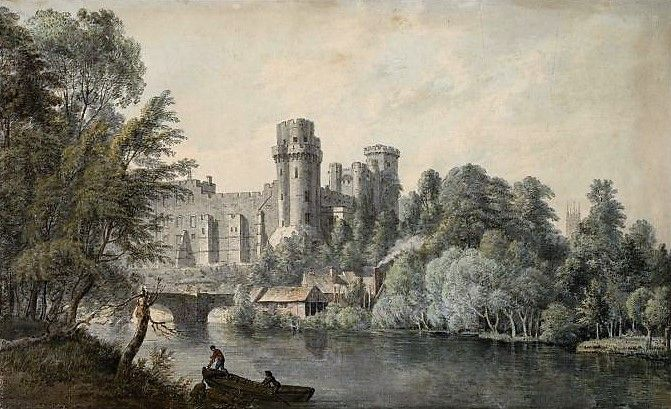 Warwick Castle From The River Painting Paul Sandby, R.A. Oil