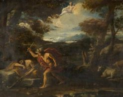 Mercury and Argos | Pier Francesco Mola | Oil Painting