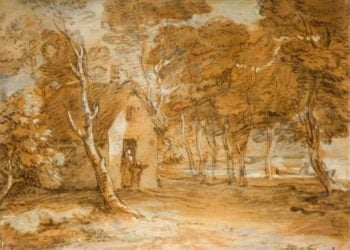 Wooded Landscape with Cottage