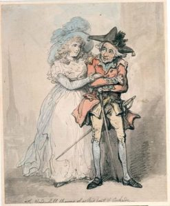 The Wonderful Charms of a Red Coat and Cockade | Thomas Rowlandson | Oil Painting