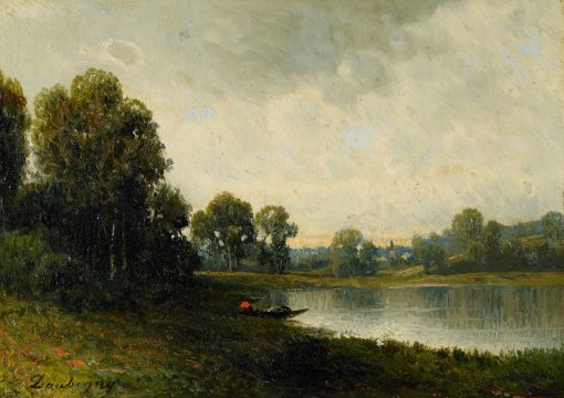 By a Lakeside | Charles Francois Daubigny | Oil Painting