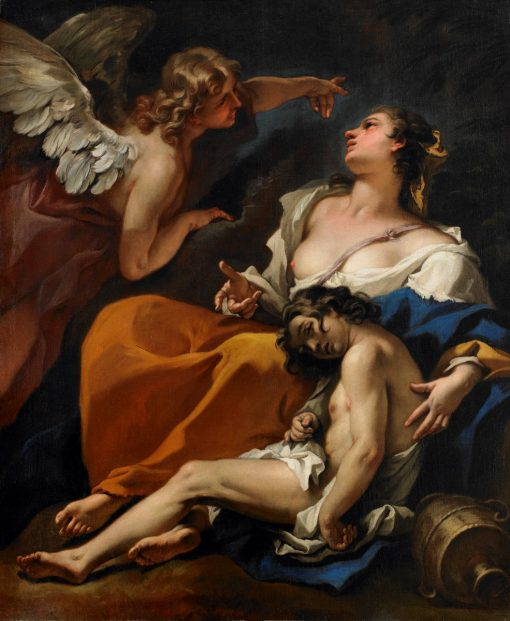 Hagar and Ishmael Saved by the Angel | Sebastiano Ricci | Oil Painting