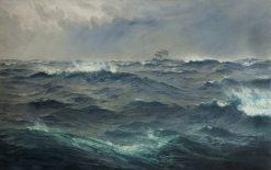 Rough Weather in the Mediterranean   Henry Moore   Oil Painting