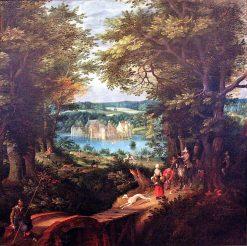 Landscape with Moated Castle | Denijs van Alsloot | Oil Painting