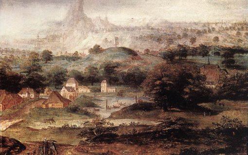 Landscape with the Banishment of Hagar | Herri met de Bles | Oil Painting