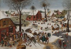 Census at Bethlehem | Pieter Brueghel the Younger | Oil Painting