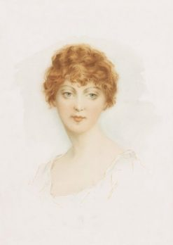 Female Head No. 1 Blonde | Alfred M. Turner | Oil Painting