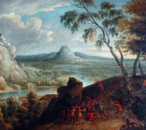 Landscape with Soldiers | Jan van Huchtenburgh | Oil Painting