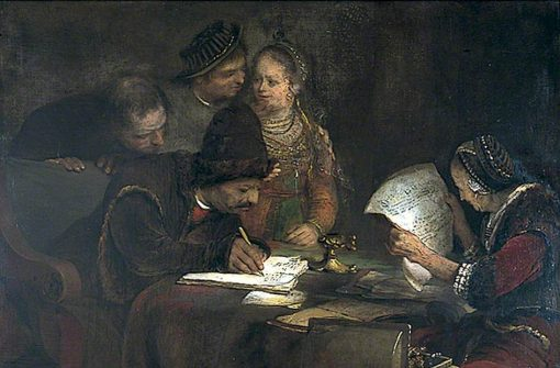 The Marriage Contract | Aert de Gelder | Oil Painting
