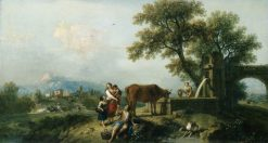 Pastoral Scene with Cowherds | Francesco Zuccarelli | Oil Painting