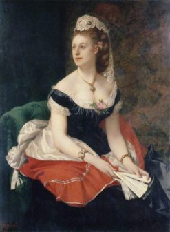Mrs. Gilbert Farquhuar Davidson | Jules Louis Machard | Oil Painting