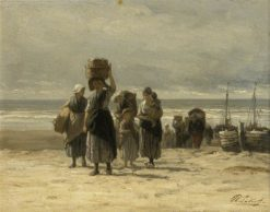 Arrival of the Fishing Smacks | Philip Lodewijk Jacob Frederik SadEe | Oil Painting