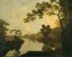 River View with Figures on the Bank | Richard Wilson