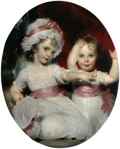 Emily and Harriet Lamb as Children | Thomas Lawrence | Oil Painting