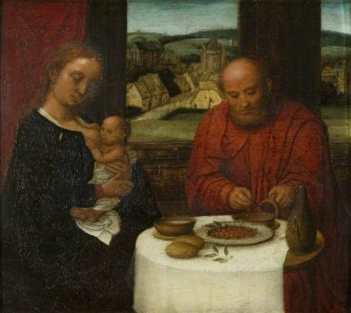 The Holy Family at a Meal | Adriaen Isenbrandt | Oil Painting