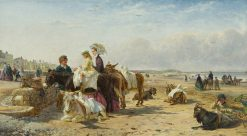 Weston Sands | Edmund Havell the Younger | Oil Painting