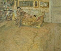 Interior with Madame Hessel and Her Dog | Edouard Vuillard | Oil Painting