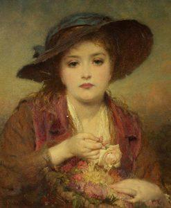 The Flower Girl | George Elgar Hicks | Oil Painting