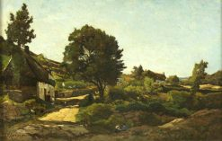 Avallon | Henri Joseph Harpignies | Oil Painting