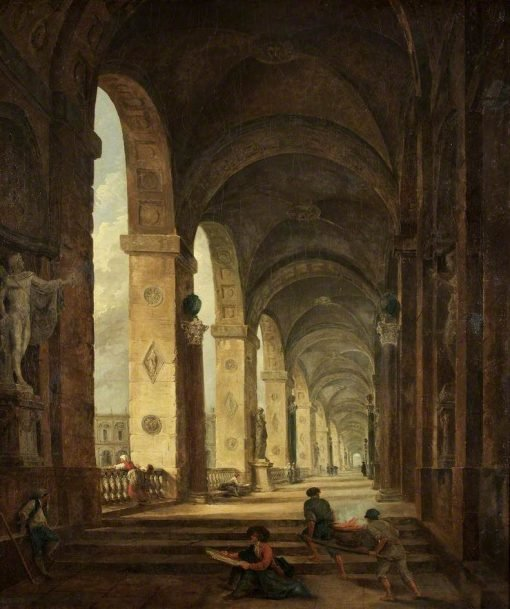 A Capriccio of Roman Architecture | Hubert Robert | Oil Painting