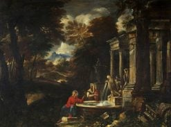 Christ and the Woman of Samaria   Pier Francesco Mola   Oil Painting