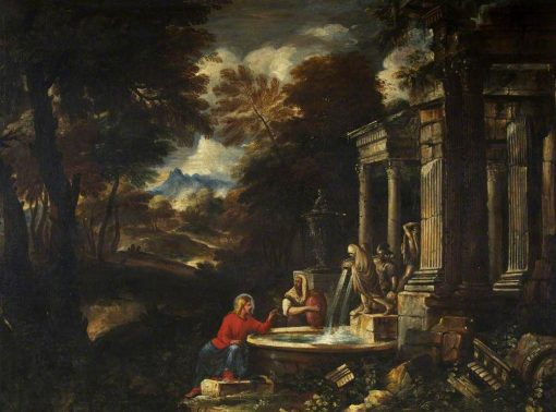 Christ and the Woman of Samaria | Pier Francesco Mola | Oil Painting