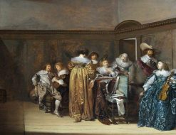 Dutch Cavaliers and Their Ladies Making Music | Pieter Codde | Oil Painting