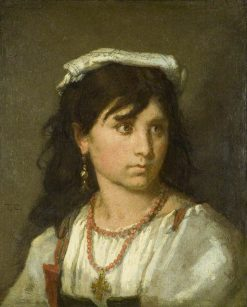 Young Italian Girl | Thomas Couture | Oil Painting