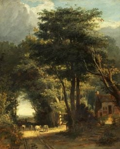 Landscape with Frenchay Church in the Distance | William James Muller | Oil Painting