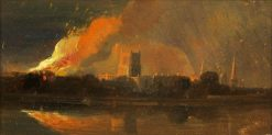 Bristol Riots: The Burning of the Bishop's Palace | William James Muller | Oil Painting