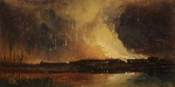 Bristol Riots: The Burning of the New Gaol from Canon's Marsh | William James Muller | Oil Painting
