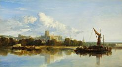 View of Bristol Cathedral | William James Muller | Oil Painting