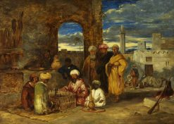 Arabs Playing Chess | William James Muller | Oil Painting