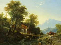 Swiss Chalet | William James Muller | Oil Painting