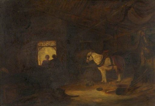 Stable Interior | William James Muller | Oil Painting