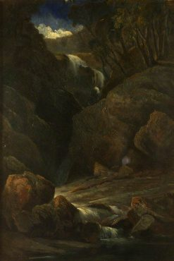 A Waterfall | William James Muller | Oil Painting