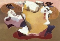 Landscape of the megaliths | Paul Nash | Oil Painting