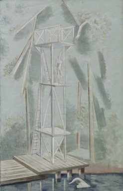 The Diving Stage   Paul Nash   Oil Painting