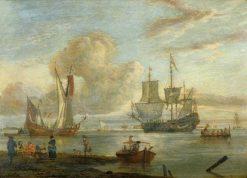 Estuary Scene | Abraham Jansz. Storck | Oil Painting