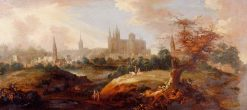 View of Peterborough from the South | George Lambert | Oil Painting