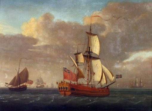 A Naval Ketch | John Cleveley the Elder | Oil Painting