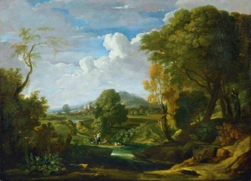 Landscape with Two Figures | Gaspard Dughet | Oil Painting