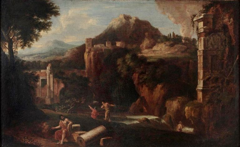 Landscape with Classical Ruins and Figures | Gaspard Dughet | Oil Painting