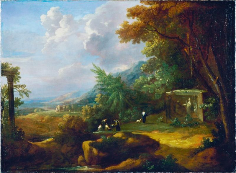 Landscape with Figures and Ruin | Gaspard Dughet | Oil Painting