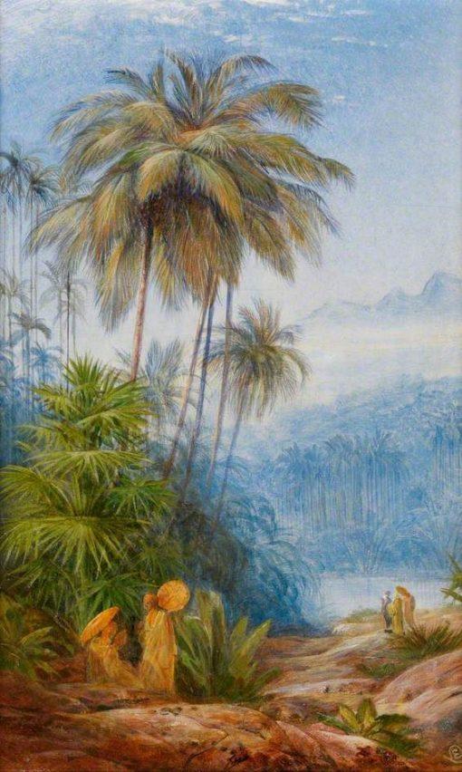 Ceylon Scenery   Edward Lear   Oil Painting