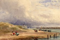 Calais Harbour | David Cox | Oil Painting