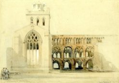 South Transept of Jedburgh Abbey | David Roberts | Oil Painting