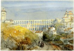 Roman Aqueduct in Segovia | David Roberts | Oil Painting