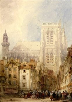 Abbeville City Centre | David Roberts | Oil Painting